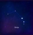 aries sign stars map zodiac constellation on vector image vector image