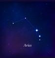 aries sign stars map zodiac constellation