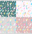 Artistic confetti seamless pattern with simple