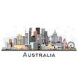 australia city skyline with gray buildings vector image