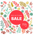 autumn sale floral pattern vector image vector image