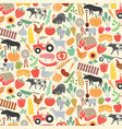 background pattern with agricultural icons vector image vector image
