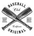 baseball bats vector image