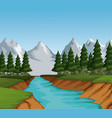 beautiful landscape view vector image vector image