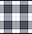 blue black and white tartan plaid seamless pattern vector image
