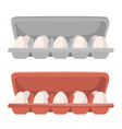 box package with eggs vector image