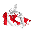 Canadian Map Flag vector image vector image