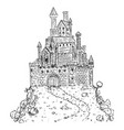 cartoon drawing or fantasy or medieval castle vector image