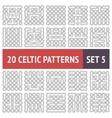 celtic patterns set vector image vector image