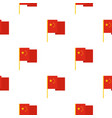 chinese national flag pattern seamless vector image vector image