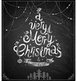 christmas chalkboard card vector image vector image