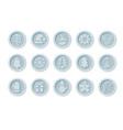 christmas cryptocurrency logo set - santa claus vector image vector image
