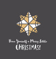christmas greeting card with geometric ornament vector image