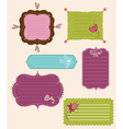 collection of design retro tags vector image
