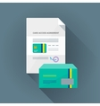colorful conditional card access set vector image vector image
