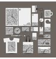 Corporate business style design folder bag label vector image vector image