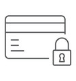 credit card security thin line icon e commerce vector image vector image