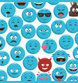 emoticons pattern background vector image vector image