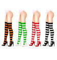 female legs and striped stockings realistic