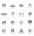 Flat Design Business Team Icons Set vector image