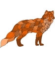 fox dog or wolf waves vector image