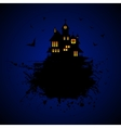 Halloween castle at night vector image vector image