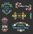 happy mothers day set design elements vector image vector image