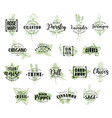 herb and spice icons with lettering vector image vector image