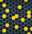 honeycomb background design vector image vector image