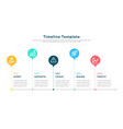 infographic elements for timeline template vector image vector image