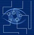 iris recognition biometric identification vector image vector image