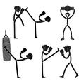 Kickboxing vector image