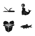 leisure fast food and other web icon in black vector image vector image
