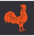 Lettering congratulation on the rooster s body vector image vector image