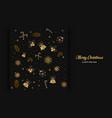 merry christmas luxury golden background gold bla vector image vector image