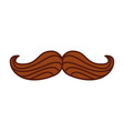 mustache hipster isolated icon vector image vector image