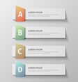 paper infographic20 vector image vector image
