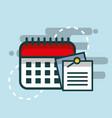paper notes on calendar reminder planner office vector image
