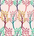 pattern of Trees vector image vector image