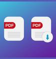 pdf book download icon vector image