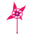 Pin wheel vector image vector image