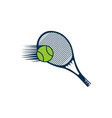 racket and ball tennis logo designs inspiration vector image