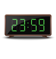 Retro green digital clock isolated on white vector image vector image