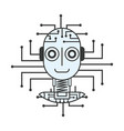 robot artificial intelligence innovation vector image