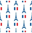 seamless texture of the Eiffel Tower and vector image vector image