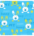 Seanless pattern with cute bunny vector image