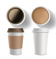 set of plastic containers of coffee vector image