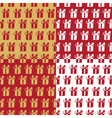 Set seamless pattern with gift boxes vector image