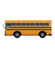side of modern school bus mockup realistic style vector image vector image
