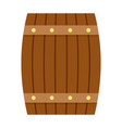 side of wood barrel icon flat style vector image vector image